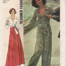 Vintage Sewing Pattern Misses' Front-Wrap Top, Skirt & Wide-Leg Pants Size 12 Simplicity 6659 UNCUT