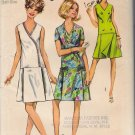 Vintage Sewing Pattern Pantdress In Women's & Half-Sizes Size 16.5 Simplicity 8849 UNCUT