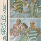 Vintage Sewing Pattern Misses' Set Of Tops Size 10-12 McCall's 5039 UNCUT