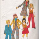 Vintage Sewing Pattern Girls' Jacket Vest Pants Skirt Size 7 Simplicity 7606 UNCUT