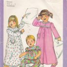 Vintage Sewing Pattern Toddlers' Nightgown Pajamas Robe Size 1/2-1 Simplicity 8173 UNCUT