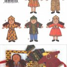Ethnic Doll & Doll Carrier Sewing Pattern Butterick 3791 UNCUT
