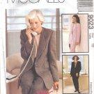 Misses' Jacket Top Pants Sewing Pattern Size 18 McCall's 9023 UNCUT