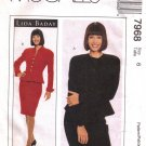 Misses' Jacket & Skirt Sewing Pattern Size 6 McCall's 7968 UNCUT