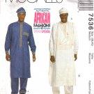 Men's Tunics, Drawstring Pants & Hat Sewing Pattern Size 38-40 McCall's 7536 UNCUT