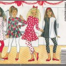Girls' Dress, Top & Leggings Sewing Pattern Size 7-10 Butterick 5591 UNCUT