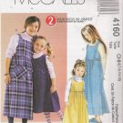 Children's / Girls' Jumpers Sewing Pattern Size 7-12 McCall's 4160 UNCUT