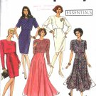 Misses' Flared or Slim Dress Sewing Pattern Size 6-10 Simplicity 7502 UNCUT