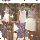 Misses' Split Skirt & Tops Sewing Pattern Size 10-16 Simplicity 8299 UNCUT