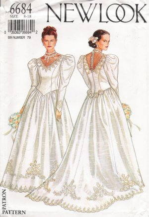 Misses' Wedding Dress Sewing Pattern Size 8-18 Simplicity New Look 6684 UNCUT