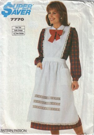 Misses' Apron Sewing Pattern One Size Simplicity 7770 UNCUT