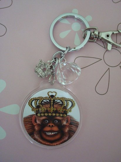The Queens Royal Coach, Altered Art Photo, Clear Charms, Acrylic Photo Frame, Keychain, Purse Charm