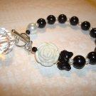 Black Pearl Bracelet...with DIAMOND DROP Bead