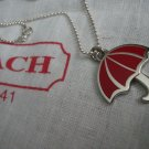 Coach Necklace, Red Umbrella Coach Charm, New, Collectible, Charm Necklace