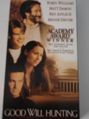 VHS Movies Tapes Good Will Hunting Matt Damon Robin Williams Ben Affleck Minnie Driver