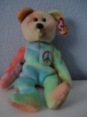 Ty Beanie Babies Collector Or Toy Peace Bear Mint Condition Collector Item Or Toy NWT