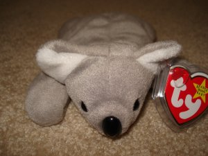 TY Beanie Babies Grey Koala Mel Mint Condition With Tag Toy Or Collector's Item