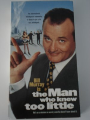 Vhs Movies Tapes The Man Who Knew Too Little Bill Murray