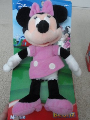 Disney's Mickey Mouse Playhouse Stuffed Minnie Mouse Toy Beanz Plush New