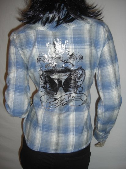 NWT Country Western Rockabilly Plaid Flannel Shirt XL