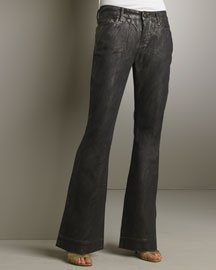New Auth Rich and Skinny Metallic bell Leg jean Size 28