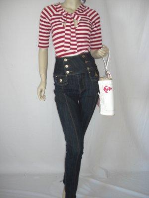 NWT SEXY Stretch Sailor Rockabilly High Waist Corset Skinny Jean XS 0