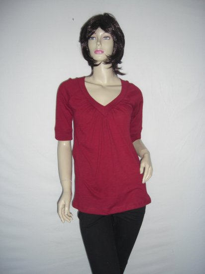New Forever 21 Red 3/4 sleeve Tunic Top Size Medium M