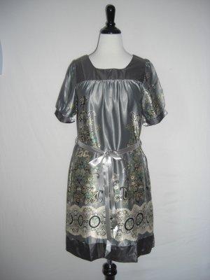 "New ""Eva"" Paisley Scarf Print Belted Shift  Dress L Large"