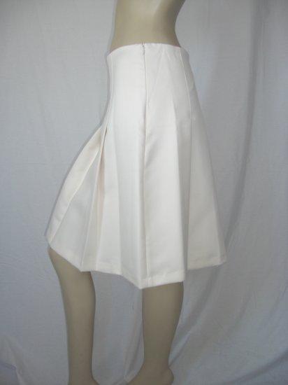 NWT Arden B Cream lined Pleated A line Career Skirt 0