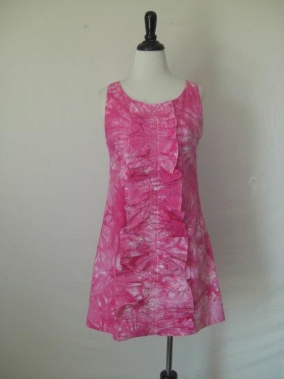NWT Tie Dye Ruffle front tank Shift Dress size L Large