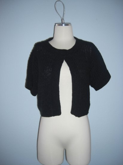 NWT $69 Macys August Silk Knit Shawl Bolero Shrug L Large