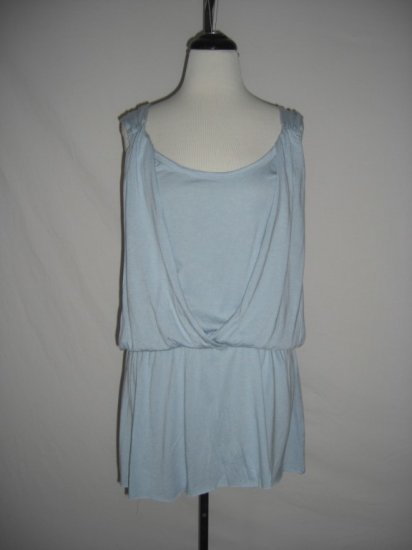 NEW Nine West Draped layered Grecian Goddess Top L Large
