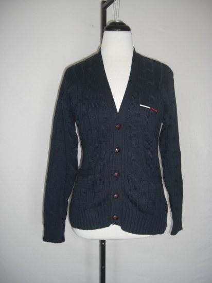 New tommy hilfiger Cable Knit Cardigan Sweater M $110