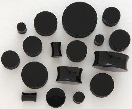 BLACK ACRYLIC SADDLE PLUGS
