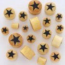 GOLDEN JACKFRUIT BLACK STAR SOLID WOOD PLUGS