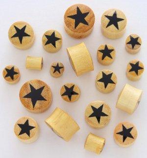 GOLDEN JACKFRUIT BLACK STAR SOLID WOOD PLUGS