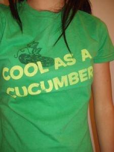 017. nwot fossil green cucumber tee