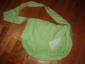 024. handmade lime messenger bag