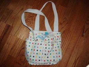 029. nwot roxy polka dot bag
