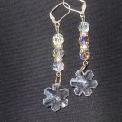 Swarovski Crystals Snowflake Earrings