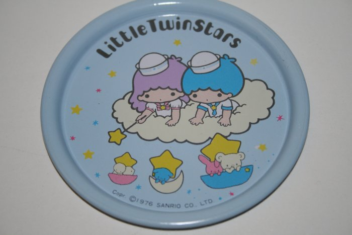 COLLECTIBLE LITTLE TWIN STARS SANRIO RARE 1976 TIN PLATE BLUE FREE SHIPPING