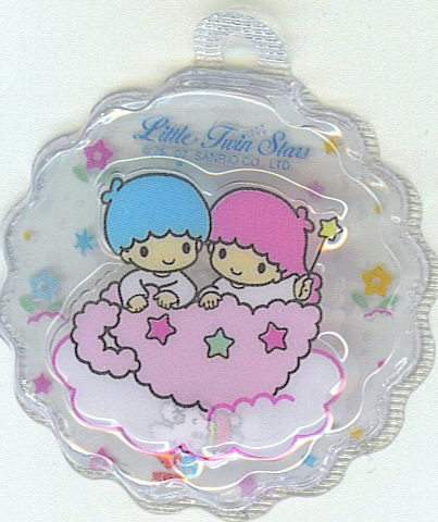 SANRIO LITTLE TWIN STARS 2 IN 1 CLEAR TRANSPARENT  ROUND WAVE SHAPE #5
