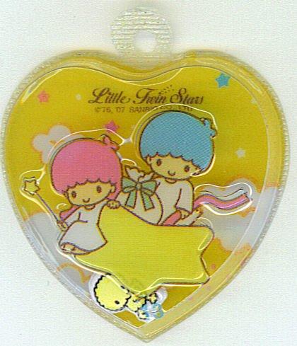 SANRIO LITTLE TWIN STARS 2 IN 1 FULL  LIGHT ORANGE HEART SHAPE #13