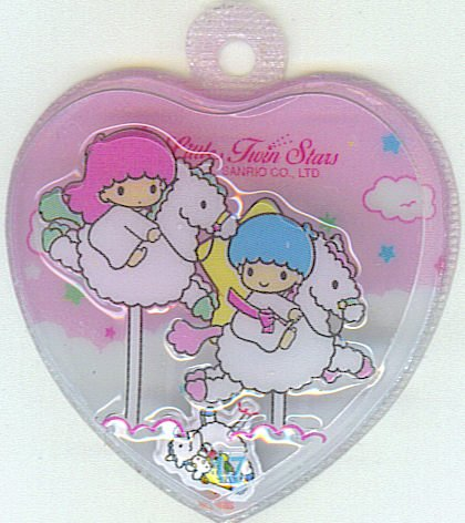 SANRIO LITTLE TWIN STARS 2 IN 1 PINK HEART SHAPE #17