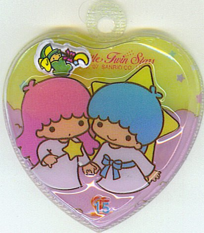SANRIO LITTLE TWIN STARS 2 IN 1 YELLOW HEART SHAPE #15