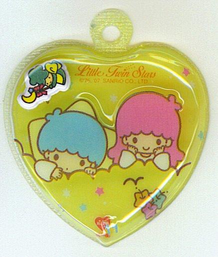 SANRIO LITTLE TWIN STARS 2 IN 1 FULL YELLOW HEART SHAPE #11