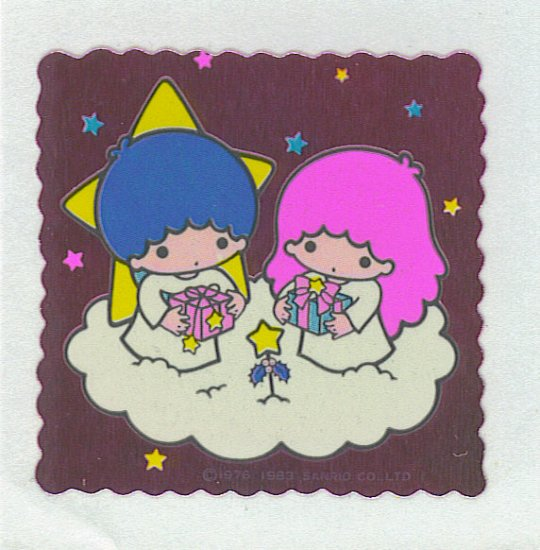 SANRIO LITTLE TWIN STARS FOIL STICKER VINTAGE 1983