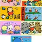 LOT OF 7 SANRIO CHEERY CHUMS,TUXEDO SAM, MINNA NO TABO CARD VINTAGE 1989