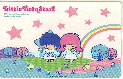 SANRIO LITTLE TWIN STARS STICKER CARD COLLECTION -STAR & RAINBOW-