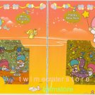 SANRIO LITTLE TWIN STARS SPECIAL PRISMATIC FOIL MEMO 2 (TWO) CARD IN 1 SET HOLDER